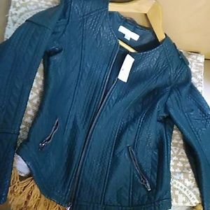 NWT New York & Co. Faux zippered leather jacket 💞
